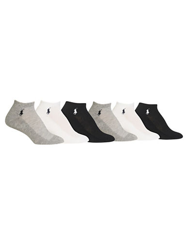 Ralph Lauren Cushion Sole Mesh Top Socks - Pack of Six-ASSORTED-One Size