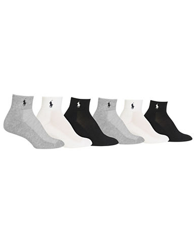 Ralph Lauren Sport Quarter 6Pk With PpEmbroidery-GREY-9-11