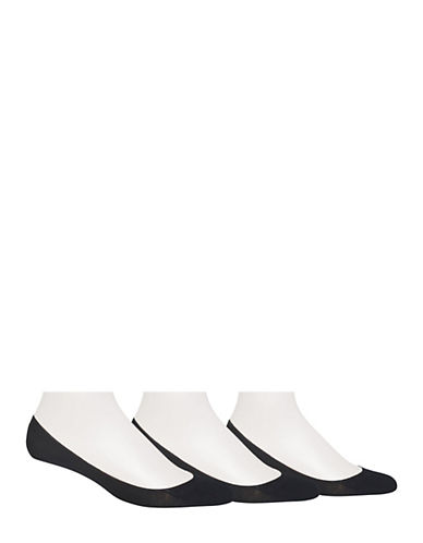 Polo Ralph Lauren Mens Three-Pack No-Show Foot Liners-BLACK-10-12