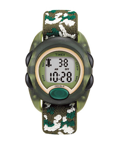 Timex Youth Digital Timex Kids Fabric Strap Watch-GREEN-One Size