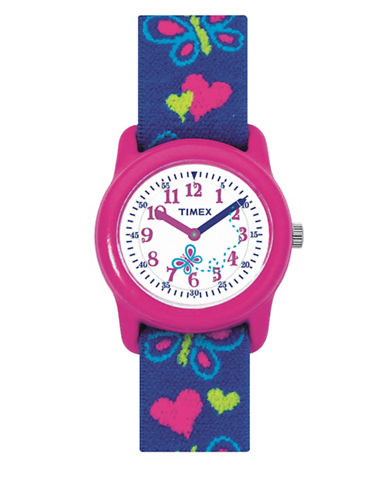 Timex Youth Analog Timex  Kids Fabric Strap Watch-MULTI-One Size