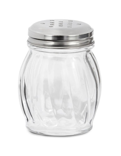 Anchor Hocking Glass Cheese Shaker-SILVER-One Size