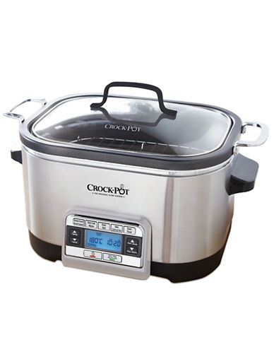 Crock Pot 5-in-1 Multi-Cooker-STAINLESS STEEL-One Size