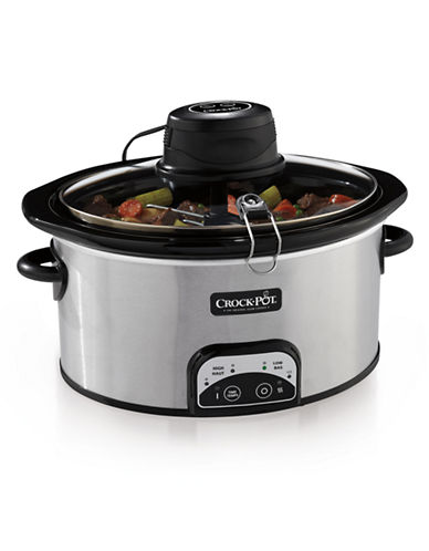 Crock Pot Digital Slow Cooker with iStir Stirring System-STAINLESS STEEL-One Size
