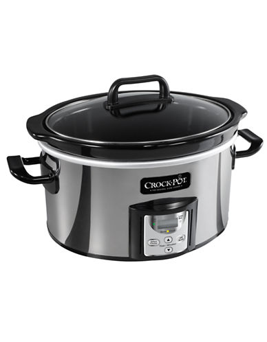 Crock Pot Countdown Programmable 4-Quart Slow Cooker-STAINLESS STEEL-One Size