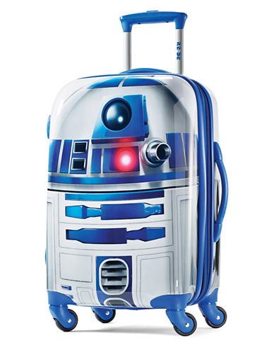 American Tourister Star Wars R2D2 20-Inch Spinner Carry-On Expandable Suitcase-BLUE-20