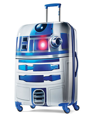 American Tourister Star Wars R2D2 28-Inch Spinner Expandable Suitcase-BLUE-28