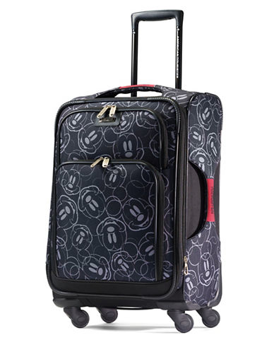 American Tourister Mickey Mouse Multi-Face 19-Inch Spinner Carry-On Expandable Suitcase-BLACK-19