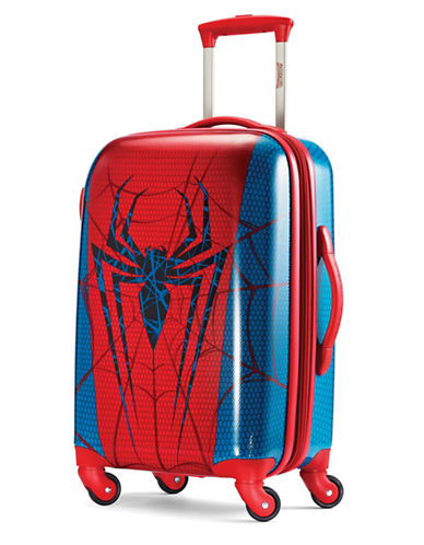 American Tourister Marvel All Ages Spiderman Spinner Expandable Carry-On-RED-21