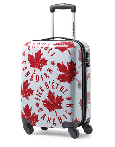 Canadian Tourister Canadian Tourister 21-Inch Spinner Proud Leaf Carry-On Suitcase-RED/WHITE-20