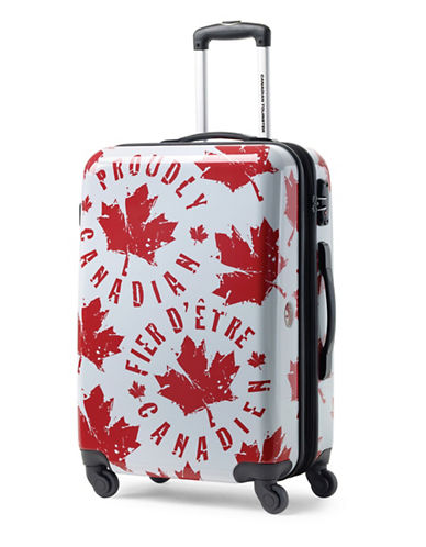 Canadian Tourister Canadian Tourister 26-Inch Spinner Medium EXP Proud Leaf Suitcase-RED/WHITE-24