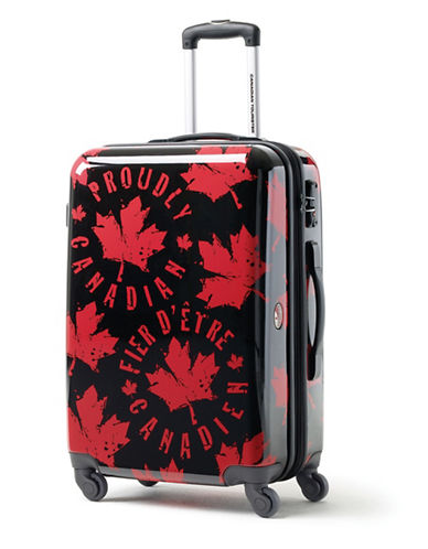 Canadian Tourister Canadian Tourister 26-Inch Spinner Medium EXP Proud Leaf Suitcase-RED/BLACK-24