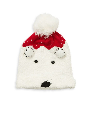 Collection 18 Cuddle Polar Bear Tuque-WHITE-One Size