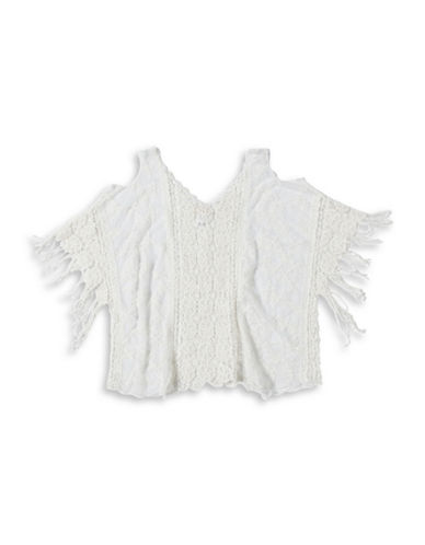 Collection 18 Prairie Lace Poncho-WHITE-One Size