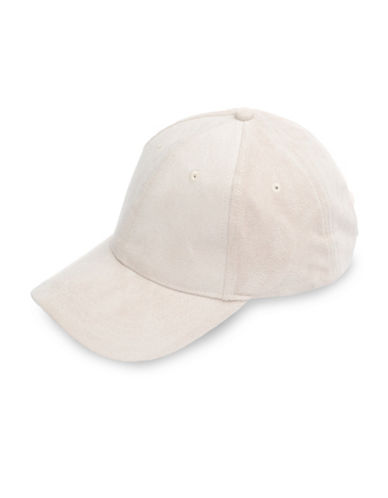 Bcbgeneration Faux Suede Baseball Cap-WHITE-One Size