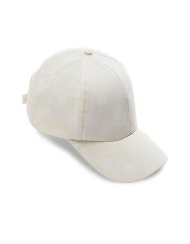 Bcbgeneration Polka Dot Baseball Cap-WHITE-One Size