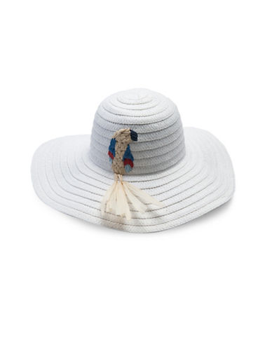 Collection 18 Parrot Floppy Hat-WHITE-One Size