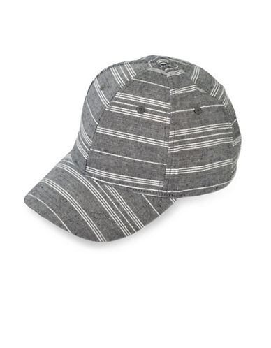 Collection 18 Beach Stripe Baseball Cap-BLACK-One Size