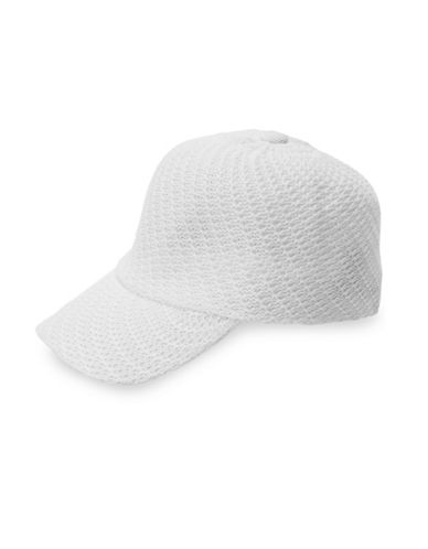 Collection 18 Packable Swirl Baseball Cap-WHITE-One Size