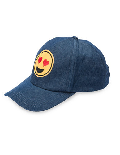 Collection 18 Emoji Baseball Cap-BLUE-One Size