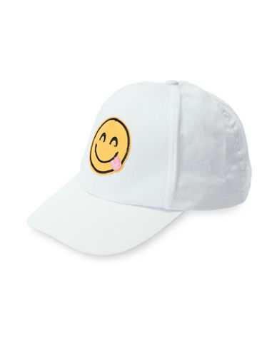 Collection 18 Emoji Baseball Cap-WHITE-One Size
