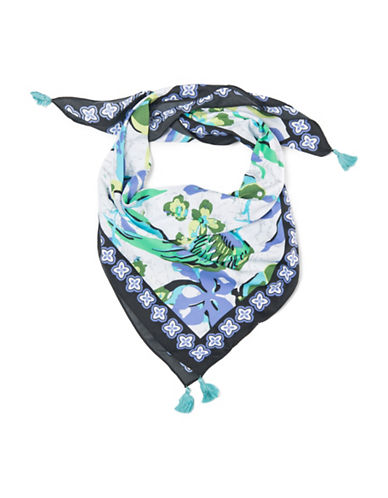 Collection 18 Birds Of A Feather Bandana-BLUE-One Size