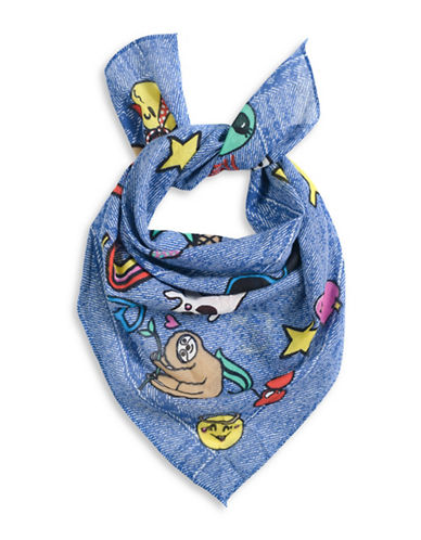Collection 18 Playful Patches Bandana-BLUE-One Size