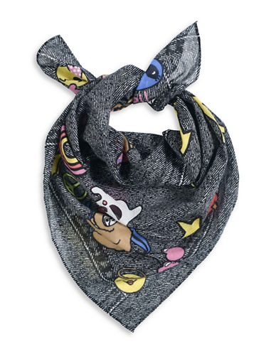 Collection 18 Playful Patches Bandana-BLACK-One Size