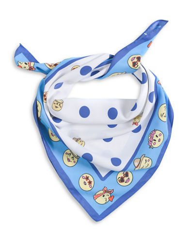 Collection 18 Emoji Bandana-BLUE-One Size