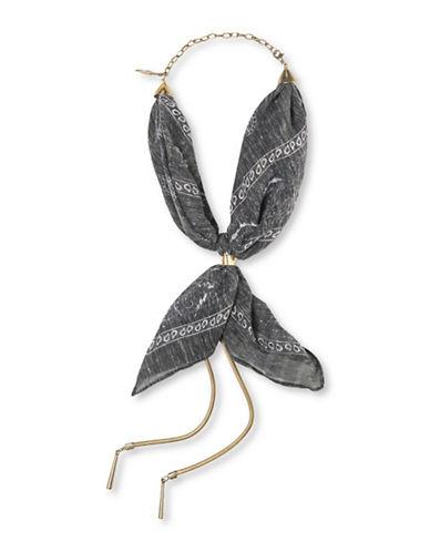 Collection 18 Bandana Necklace-BLACK-One Size
