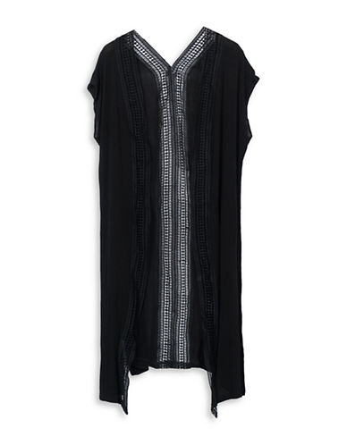Bcbgeneration Breezy Way Duster Cardigan-BLACK-One Size