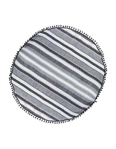 Collection 18 Striped Circle Wrap-BLACK-One Size