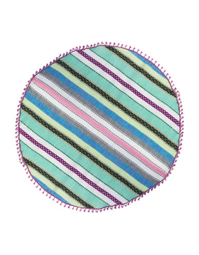 Collection 18 Striped Circle Wrap-WHITE MULTI-One Size