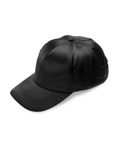 Collection 18 Satin Baseball Cap-BLACK-One Size