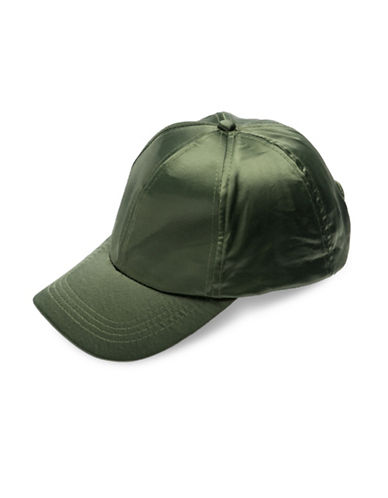 Collection 18 Satin Baseball Cap-GREEN-One Size