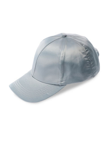 Collection 18 Satin Baseball Cap-GREY-One Size