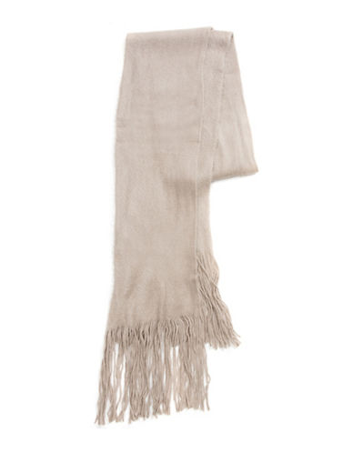 Collection 18 Kitten Soft Long and Skinny Scarf-TAUPE-One Size