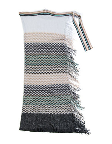 Collection 18 Striped Convertible Wrap-BLACK-One Size