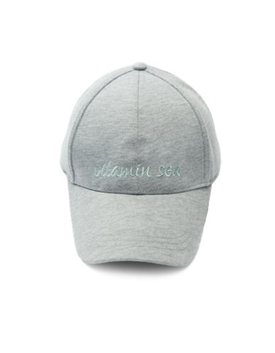 Collection 18 Scripted Baseball Cap-GREY-One Size