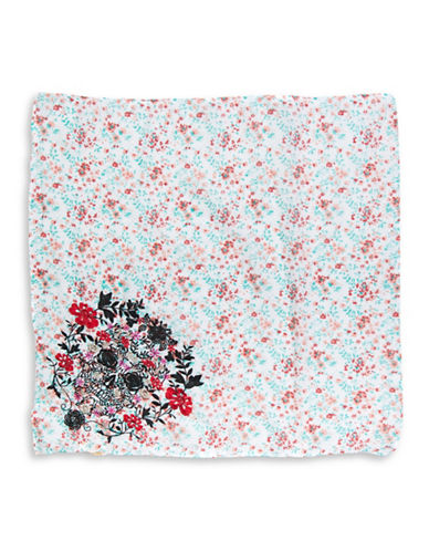 Collection 18 Floral Skull Bandana-PINK-One Size