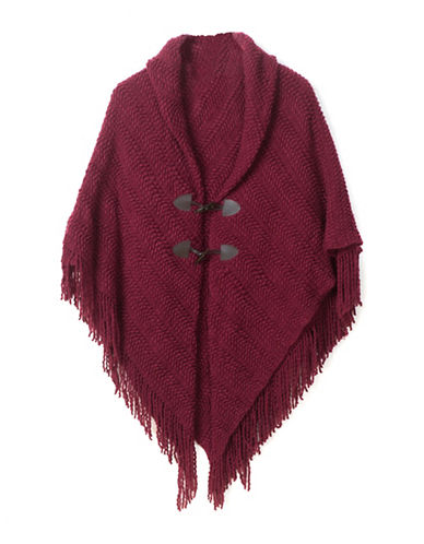 Collection 18 Wavy Knit Jacket-CRANBERRY-One Size
