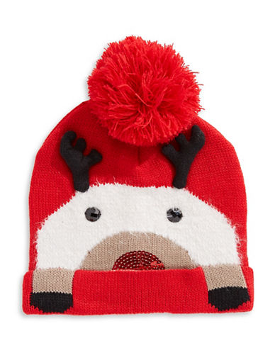Collection 18 Reindeer Beanie-RED-One Size