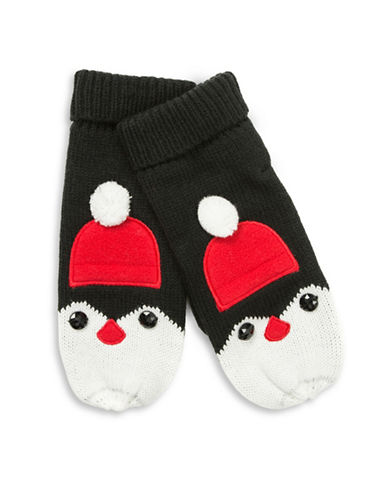 Collection 18 Penguin Mittens-BLACK-One Size