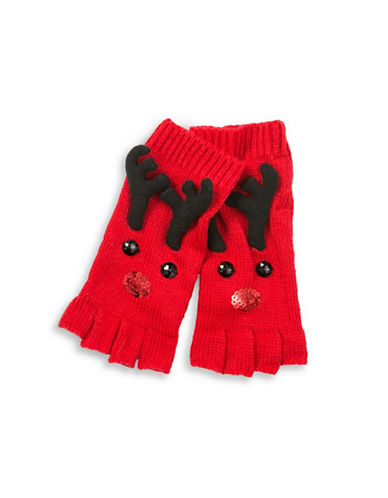 Collection 18 Dasher Reindeer Gloves-RED-One Size
