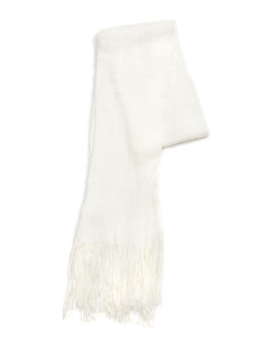 Collection 18 Kitten Soft Long and Skinny Scarf-IVORY-One Size