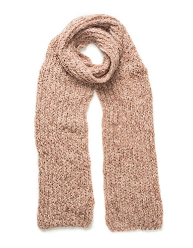 Collection 18 Knitted Chenille Scarf-ROSE-One Size