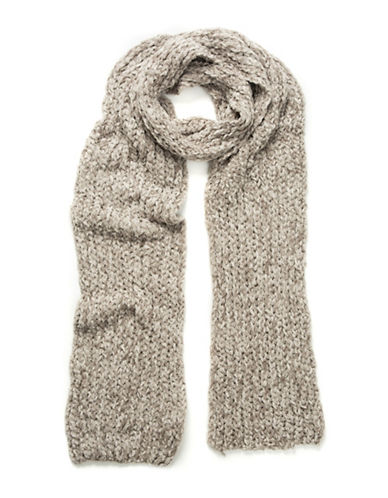 Collection 18 Knitted Chenille Scarf-TAUPE-One Size
