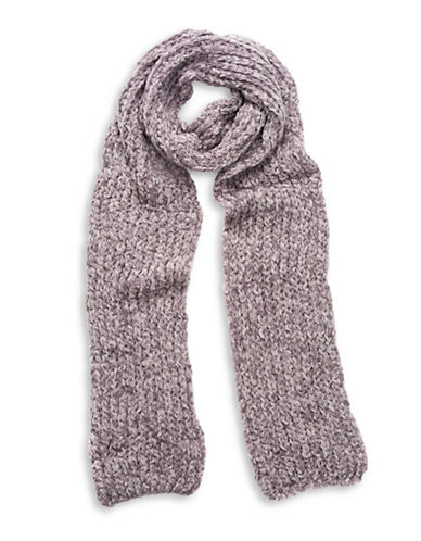 Collection 18 Knitted Chenille Scarf-LAVENDER-One Size