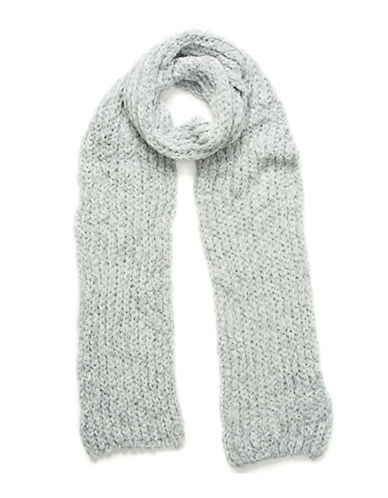 Collection 18 Knitted Chenille Scarf-BLUE-One Size