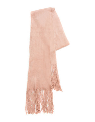 Collection 18 Kitten Soft Long and Skinny Scarf-ROSE-One Size